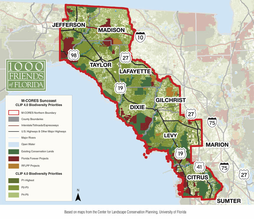 M-CORE Suncoast CLIP 4.0 Biodiversity Map